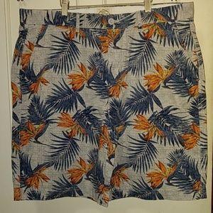 St. John's Bay flat front tropic print shorts